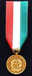 Italy - Medaglia d'oro al Valore Civile