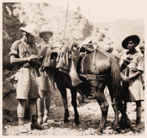 Signalman J. Petrie, Waziristan District Signals and his W/T Detachment in Waziristan in 1937
